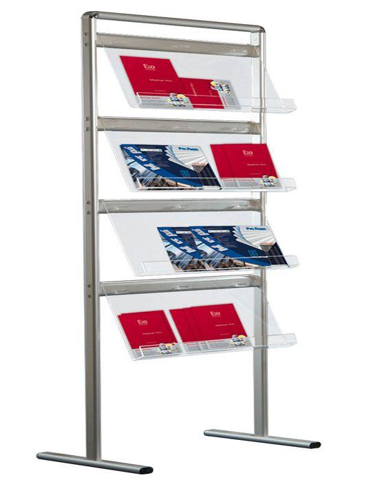 Jednostranný stojan na prospekty Brochure 16x A4 A-Z Reklama CZ
