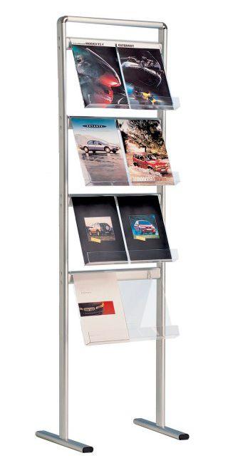 Jednostranný stojan na prospekty Brochure 8x A4 A-Z Reklama CZ