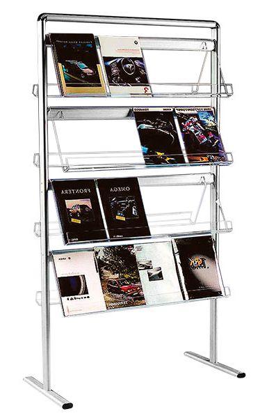 Oboustranný stojan na prospekty Brochure 32x A4 A-Z Reklama CZ