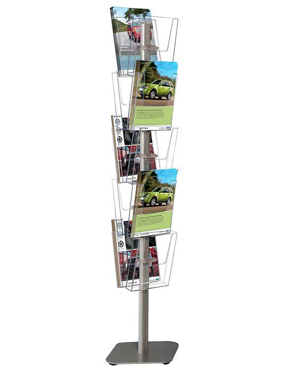 Stojan na letáky Multiside Brochure 10 kapes A4