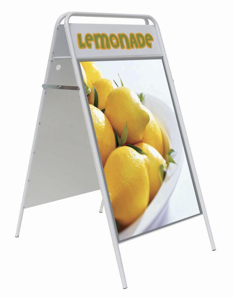 Reklamní stojan Áčko Iron A Board TOP - B2 - Bílé