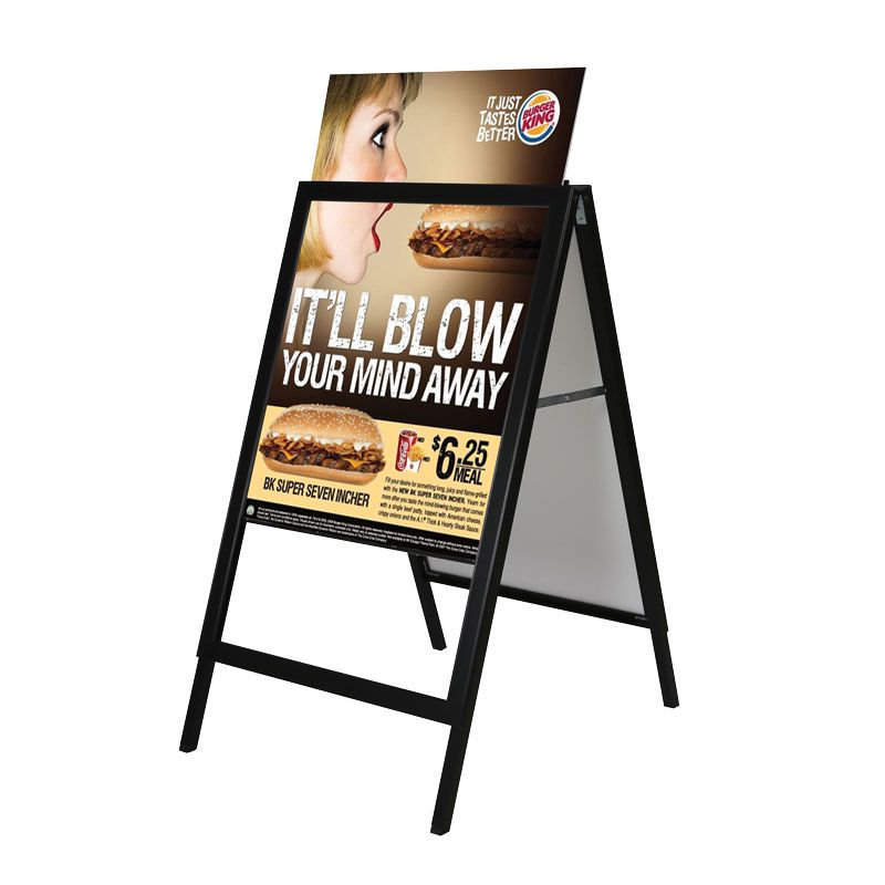Reklamní stojan Slide-in A Board - Černý - A1