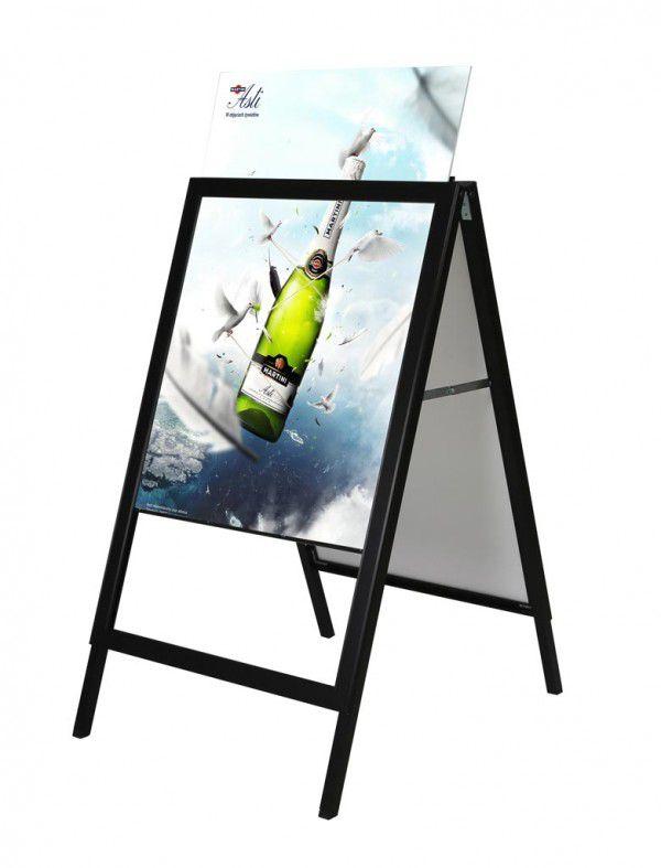 Reklamní stojan Slide-in A Board - Černý - B1