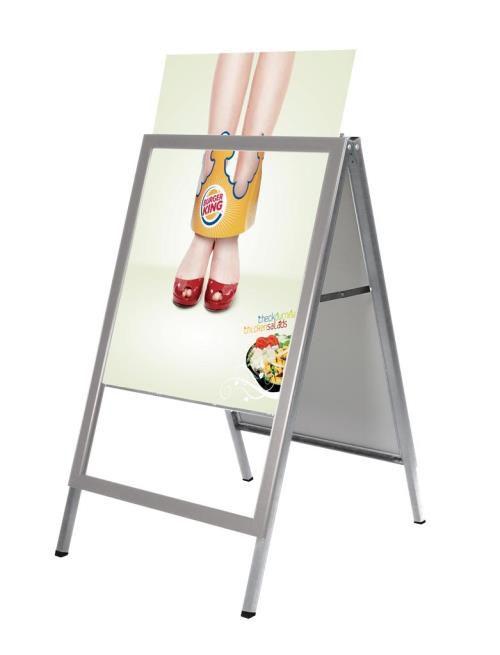Reklamní stojan Slide-in A Board - Šedý - A1