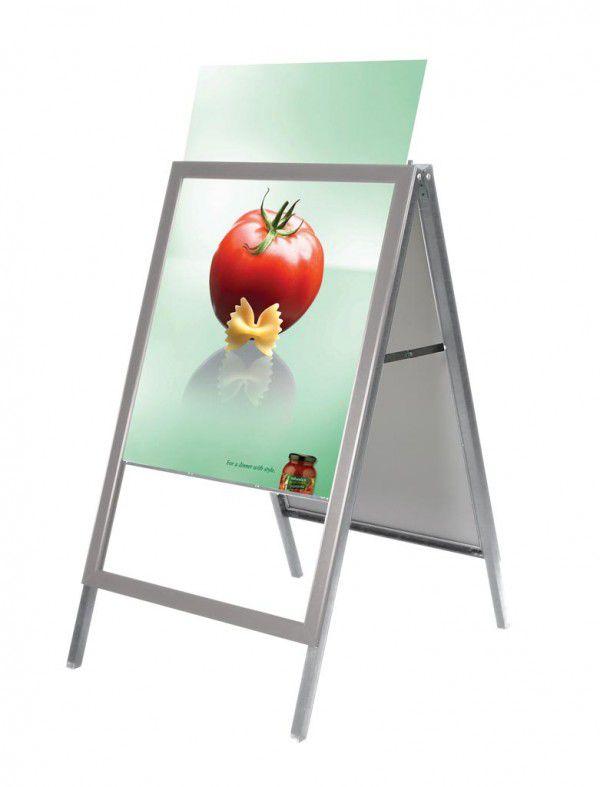 Reklamní stojan Slide-in A Board - Šedý - B1