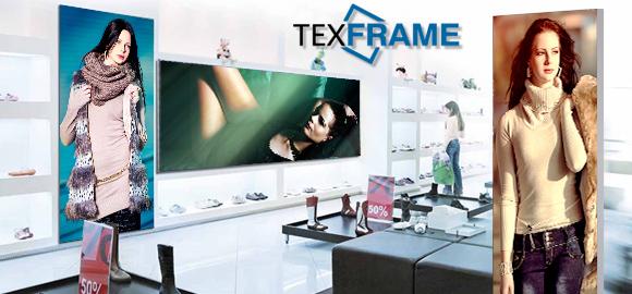 Textilní rámy T-Frame